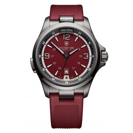 Victorinox 241717 Night Vision Black Ice Mens Watch Red