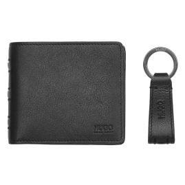 Hugo 50332310 Wallet Set for Men Black