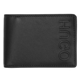 Hugo 50397402 Men's Leather Wallet Bolster Black