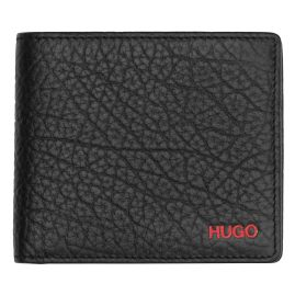 Hugo 50412691 Leather Wallet Victorian Black