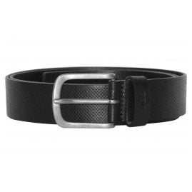 Hugo 50376643-001 Mens Leather Belt Gesyl Black