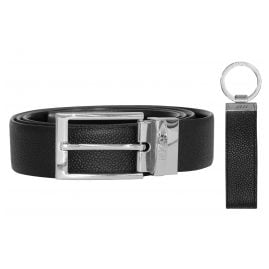 Hugo 50403065 Gift Set Men's Leather Belt Black