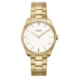 Cluse CW0101212005 Damenuhr Féroce gold / weiß