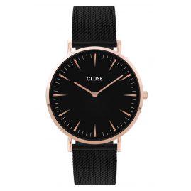 Cluse CW0101201010 Damenuhr La Boheme Mesh-Armband schwarz / roségold