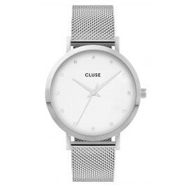 Cluse CW0101202001 Damenuhr Pavane Mesh-Armband silber / weiß