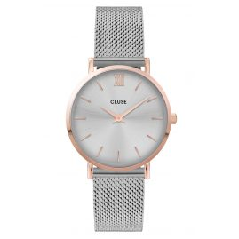 Cluse CW0101203004 Ladies' Watch Minuit Mesh Strap Silver / Rose Gold