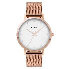 Cluse CW0101202002 Ladies' Watch Pavane Mesh Strap White / Rose Gold