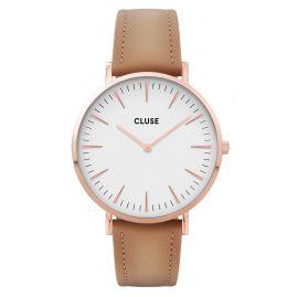Cluse CW0101201015 Damenuhr La Boheme Lederband roségold / haselnuss