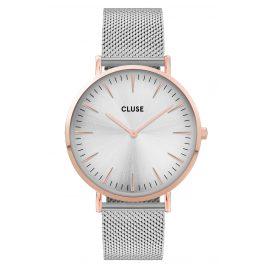 Cluse CW0101201006 Damenuhr La Boheme Mesh-Band silber / roségold