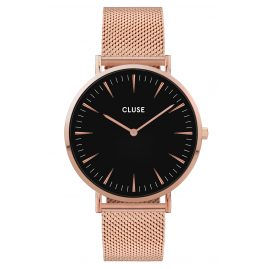 Cluse CW0101201003 Women's Watch La Boheme Mesh Strap Rose Gold / Black