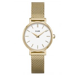 Cluse CW0101211001 Damenuhr La Boheme Petite Mesh-Armband gold / weiß