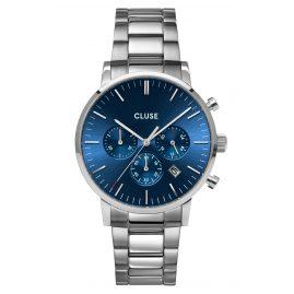 Cluse CW0101502011 Herrenuhr Aravis Chrono Stahl/Blau