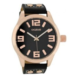 Oozoo C1159 XL Watch Black/Rosegold 46 mm