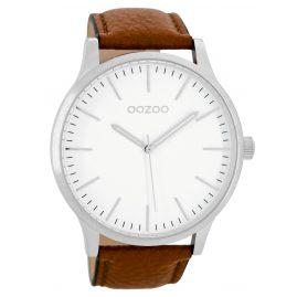 Oozoo C8535 Armbanduhr in Unisexgröße Cognac 48 mm