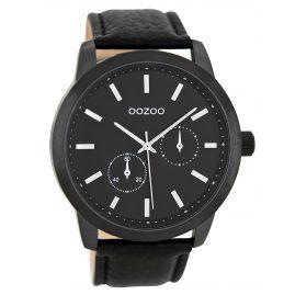 Oozoo C8579 Herren-Armbanduhr im Chrono-Look Schwarz 47 mm