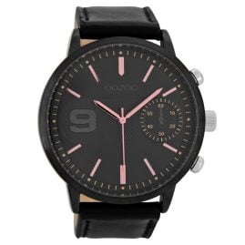 Oozoo C8583 Mens Watch with Chrono Look Black 49 mm