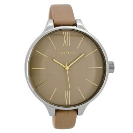 Oozoo C8636 Ladies Watch with Leather Strap Sand 45 mm