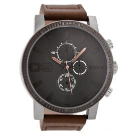 Oozoo C9032 Mens Watch with Chrono Look Brown/Grey 50 mm