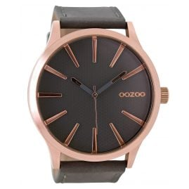 Oozoo C9042 Mens Wrist Watch Elephant Grey 50 mm