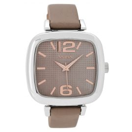 Oozoo C9182 Ladies Wrist Watch Taupe/Rose 42 mm