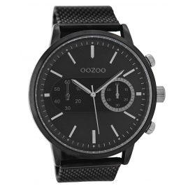 Oozoo C9074 Herrenuhr im Chrono-Look Schwarz 49 mm