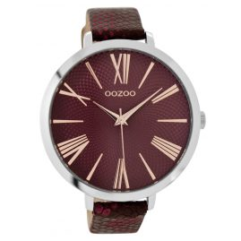 Oozoo C9171 Damenarmbanduhr Bordeaux 48 mm