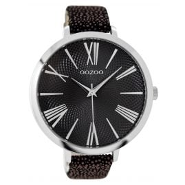 Oozoo C9173 Ladies Watch Black/Brown XXL 48 mm
