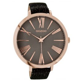 Oozoo C9174 Ladies Watch Rose/Grey/Black 48 mm