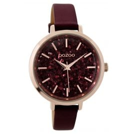 Oozoo C9221 Ladies Watch Glitter Bordeaux 39 mm