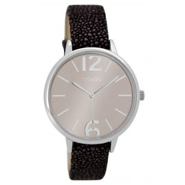 Oozoo C9227 Ladies Watch Silver / Black 36 mm