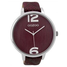 Oozoo C9241 Damenuhr Bordeaux 48 mm