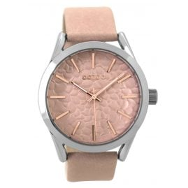 Oozoo C9472 Ladies Watch with Leather Strap pinkgrey 43 mm