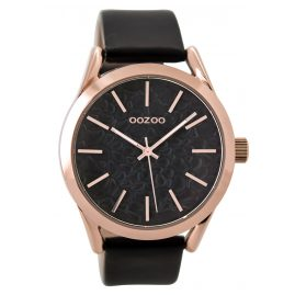 Oozoo C9474 Ladies Watch with Leather Strap black 43 mm