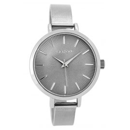 Oozoo C9491 Ladies Watch silver/grey 38 mm