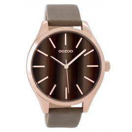 Oozoo C9501 Damenuhr mit Lederband rosé/taupe 42 mm