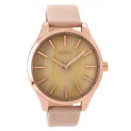 Oozoo C9502 Ladies Watch with Leather Strap rose/pinkgrey 42 mm