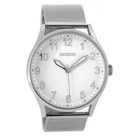 Oozoo C9515 Armbanduhr mit Milanaiseband silberfarben/weiß 42 mm
