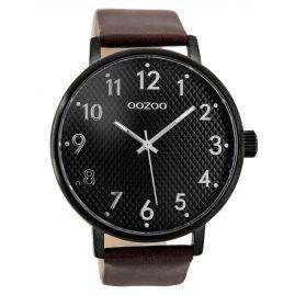 Oozoo C9403 Herrenuhr Schwarz/Dunkelbraun 48 mm