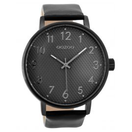Oozoo C9404 Mens Watch Black/Grey 48 mm
