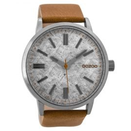 Oozoo C9405 Mens Watch Brown/Silver 48 mm