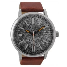 Oozoo C9407 Mens Watch Brown/Grey 48 mm