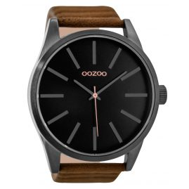 Oozoo C9413 Mens Watch Black/Brown 50 mm