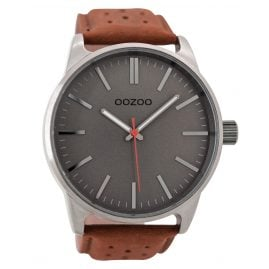 Oozoo C9421 Mens Watch Grey/Cognac 48 mm