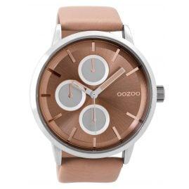 Oozoo C9425 Armbanduhr mit Lederband Softpink XL 49 mm