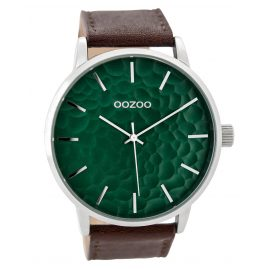 Oozoo C9441 Herrenuhr Braun/Monsteragrün 48 mm