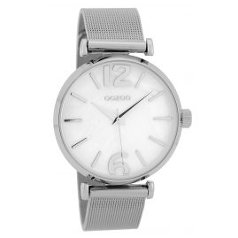 Oozoo C9565 Ladies' Watch Mesh Band Silver Tone/White 40 mm