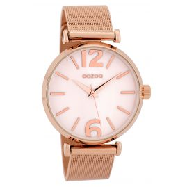 Oozoo C9569 Ladies' Watch Mesh Band Rose Gold Tone/White 40 mm