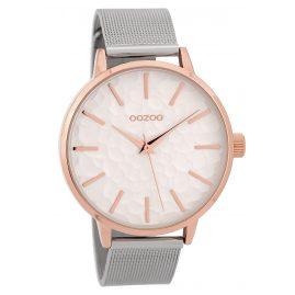 Oozoo C9572 Damen-Armbanduhr Milanaiseband Roségoldfarben/Weiß 42 mm