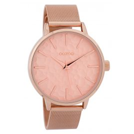 Oozoo C9573 Ladies' Watch Mesh Band Rose Gold Tone/Pink 42 mm