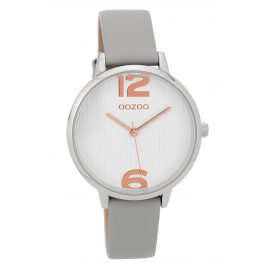 Oozoo C9576 Ladies' Watch with Leather Strap Light Grey/White 36 mm
